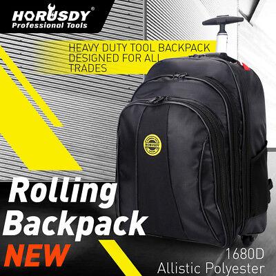 HORUSDY Tool Backpack Bag Rolling Mobile Toolbox Cart Organizer Wheels Storage