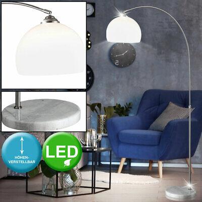 LED Arco Lámpara de Pie Alturas Ajustable Mármol Base Techo Lectura