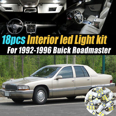 18Pc Super White Car Interior LED Light Bulb Kit for 1992-1996 Buick Roadmaster