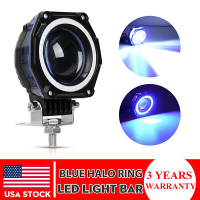 Blue Led Spotlight (3inch 35W Round CREE LED Work Light Pods Spot Driving Lamp Blue DRL Offroad)