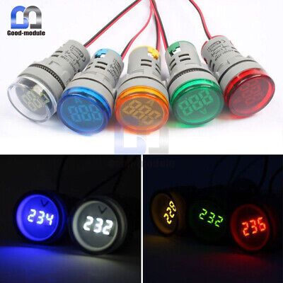22mm Ac60-500v Greenyellowred Led Voltmeter Voltage Meter Indicator Light Diy