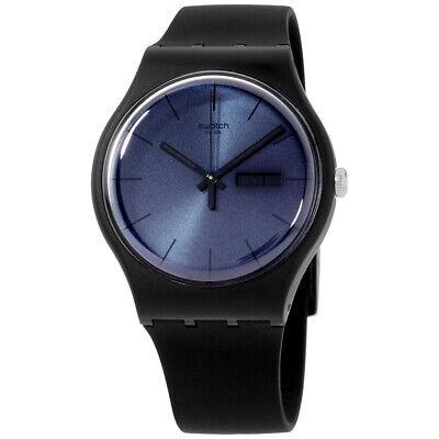 Swatch Originals Quartz Movement Black Dial Unisex Watch SUOB702 **Open Box**