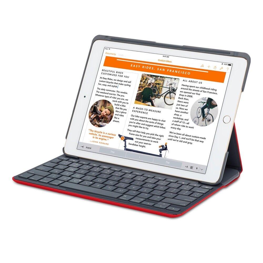 Logitech Canvas Keyboard Case for iPad Air 2 - Red German QW