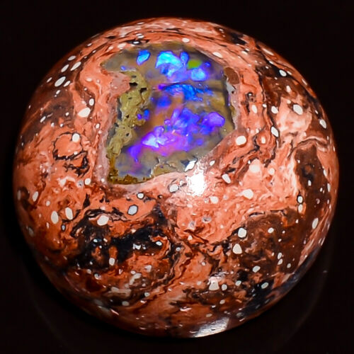 Awesome Quality Natural Mexican Fire Opal Round Cab 17x17x09mm Gemstone 13.45Cts