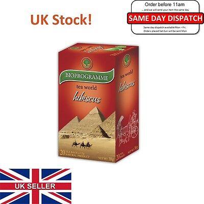 Premium HIBISCUS TEA, Lowers Blood Pressure, Diuretic,Weight Loss,1pack UK STOCK