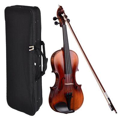 4/4 Full Size Handmade Violin Stradivari 1721 Copy German Style Fiddle Case Bow