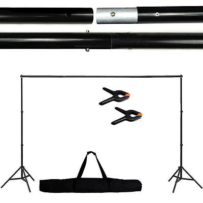 Adjustable Background Support Stand Photo Backdrop Crossbar Kit Photography 10Ft