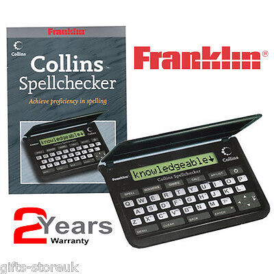 Franklin SPQ109 Collins Proficiency in Spellings Pocket Spell Checker - New