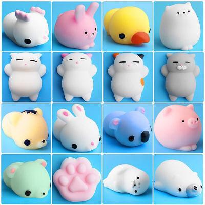 Cute Mochi Squishy Cat Squeeze Healing Fun Kids Kawaii Toy Stress Reliever - Squeeze Toy Squishy