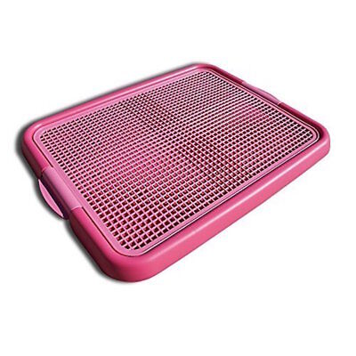 Alpha Dog Series - Indoor Puppy Potty Training Toilet Trays (Pink) - Indoor Dog Toilet