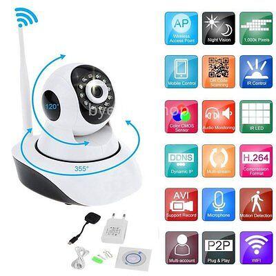 IP Kamera 720P HD Überwachung Wireless WIFI Nachtsicht Webcam Wlan Netzwerk √ DE