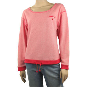 BILLABONG Ladies LOOSEN UP Crew Sweater Fleece Jumper Top (Multi Sizes) NEW