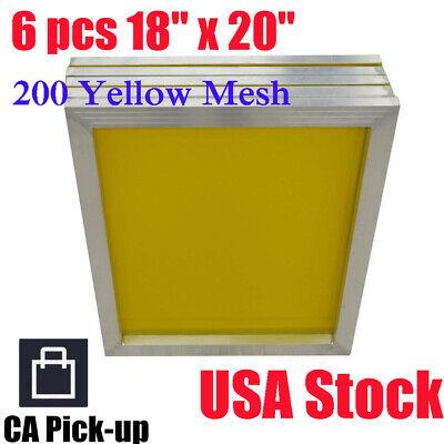 Ca Pick-up 6pack 18 X 20 Aluminum Silk Screen Printing Frame 200 Yellow Mesh