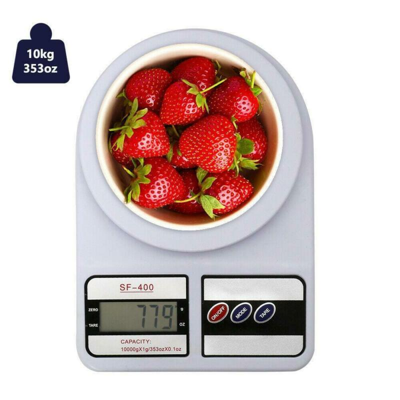 LCD Digital Kitchen Scale 22LBS Electronic Weight Diet Food Balance 10kg/1g