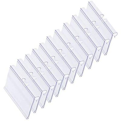 60 Pcs Clear Plastic Label Holder Shelf Retail Price Merchandise Sign Display X