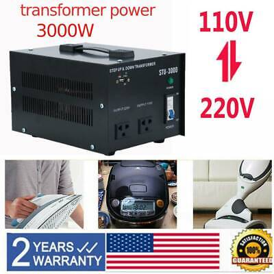 3000W step up/down power voltage power converter transformer 220V to/from 110V