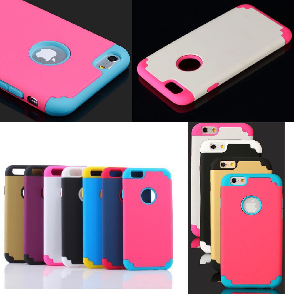 Shockproof Rugged Hybrid Rubber Hard Cover Case For Apple iPhone 6 4.7