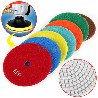 5 Inch Wetdry Diamond Polishing Pads Sanding Disc Marble Granite Glass Concrete