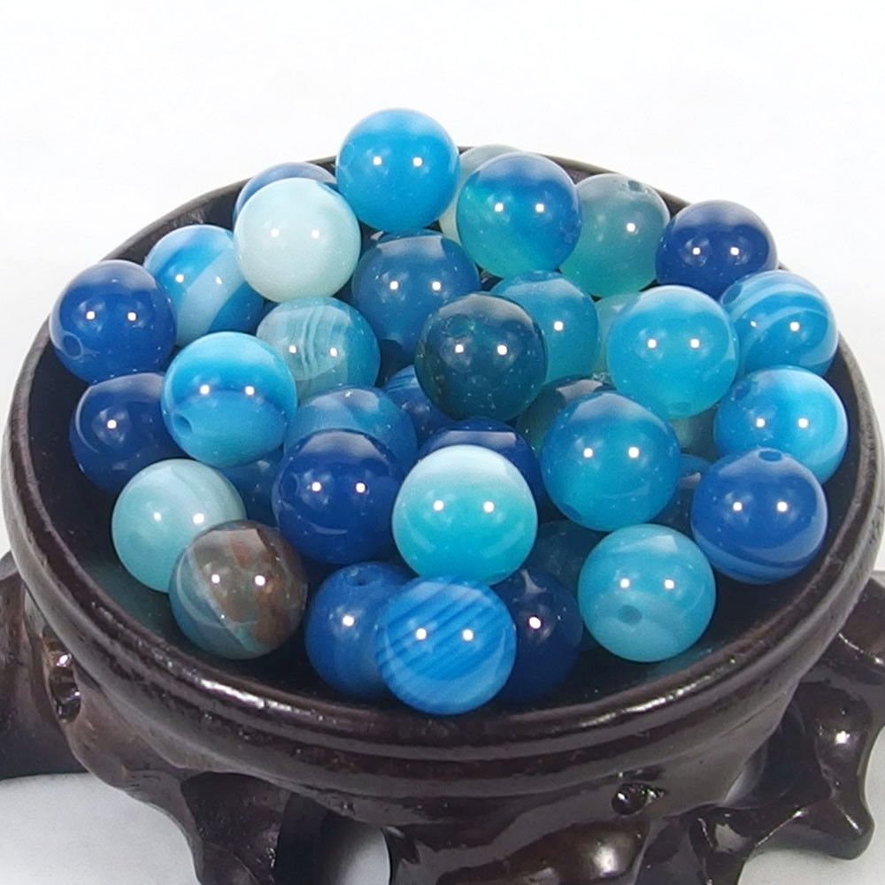 Bulk Gemstones I natural spacer stone beads 4mm 6mm 8mm 10mm 12mm jewelry design blue agate