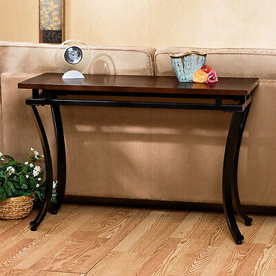 Entry Table Sofa Accent Furniture Wood Console Hallway Hall Foyer End Wooden