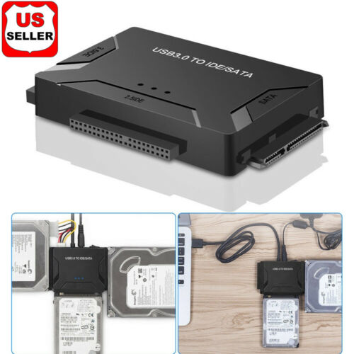 USB 3.0 to IDE & SATA Converter External Hard Drive Adapter Kit 2.5″/3.5″ Cable Computer Cables & Connectors