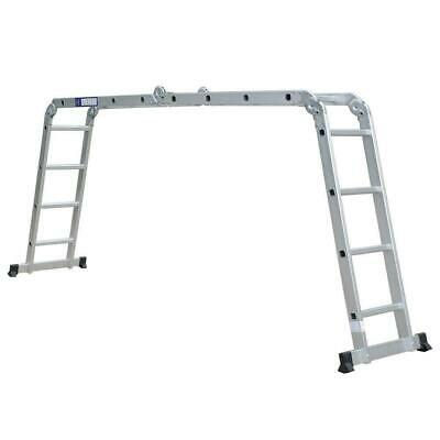 15.5ft 330lb Multi Purpose Step Platform Aluminum Folding Scaffold Ladder