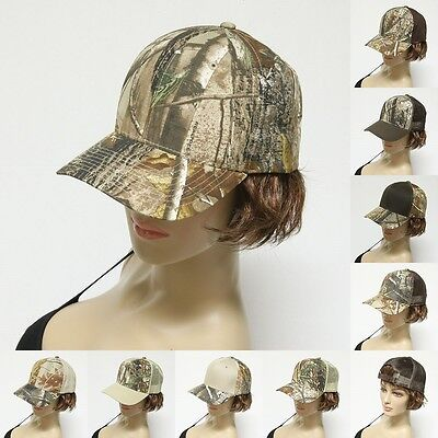 (Realtree Camouflage Curve Bill Snapback Camo Baseball Ball Cap Caps Hat Hats )