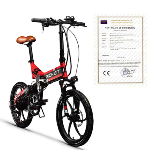 RICHBIT 250W*48V  E-Bike Klapprad Elektrofahrrad Pedelec 20 Zoll Hintermotor-NEU