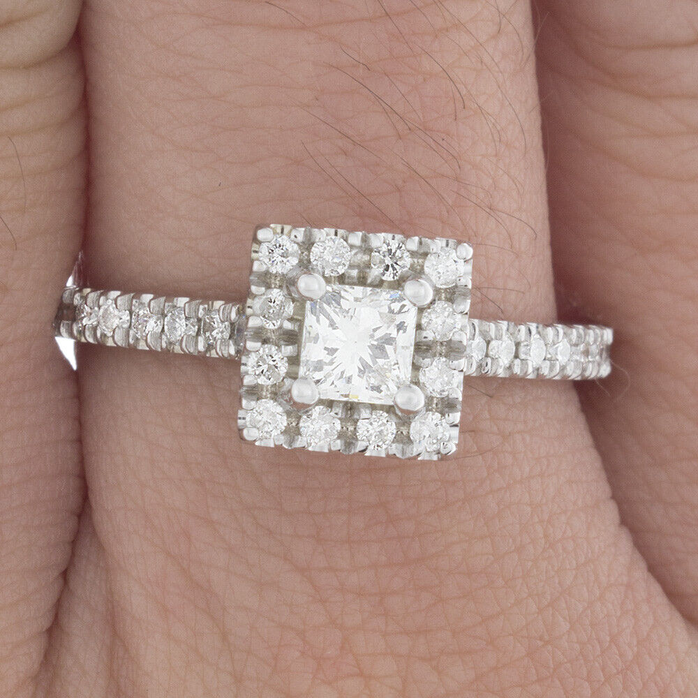 GIA Certified Diamond Engagement Ring 1.64 CTW Princess Cut 14k White Gold 1