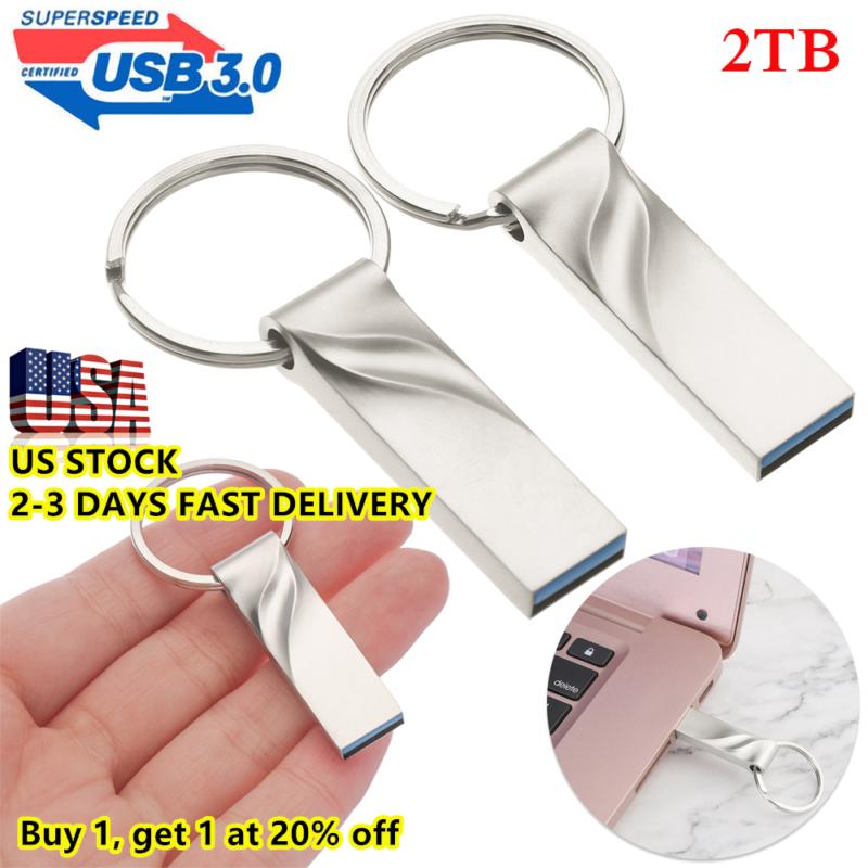 2TB Flash Drive USB3.0 High-Speed Data Storage Thumb Stick S