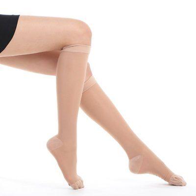 Fytto 1007 Women's Compression Socks, Sheer 15-20mmHg Hosiery, Flight Stockings