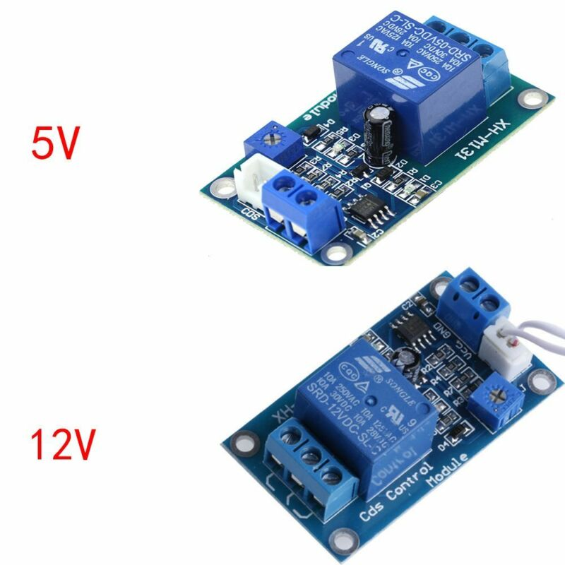 12V Light Control Switch Photoresistor Relay Module Detection Sensor XH-M131