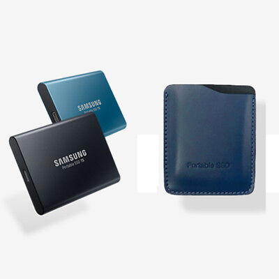 NEW Samsung T5 portable SSD  Genuine Leather case Premium pouch