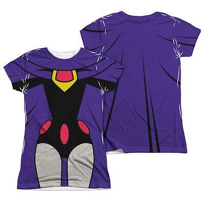 Teen Titans Go Raven Costume (TEEN TITANS GO RAVEN COSTUME Licensed Halloween Women's Junior Tee Shirt)