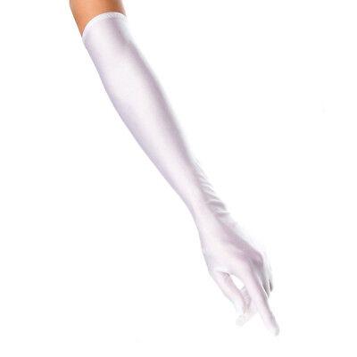 ILAVO® Extra lange Satinhandschuhe aus leichtem Satin weiß Handschuhe ZM17-12