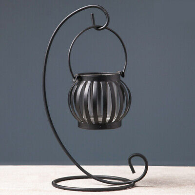 European Style Retro Iron Candlestick Holder Hanging Pumpkin Lantern Halloween W