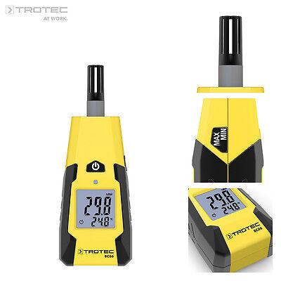 TROTEC BC06 Thermohygrometer Luftfeuchtemessgerät Feuchtemesser Klimamessgerät