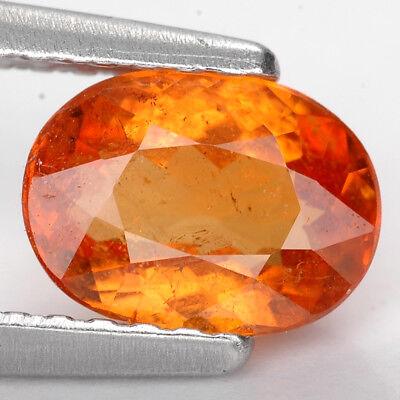 1.24 Ct. Charming Intense Color Orange Mandarin Garnet Gem WITH GLC CERTIFY Intense Mandarin Orange