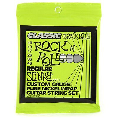 Ernie Ball 2251 Classic Pure Nickel Slinky Electric Guitar Strings 10-46