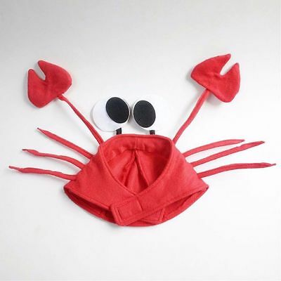 Gift Lovely Adult Cute Red Lobster Crab Hat Funny Costume (Lobster Hat)