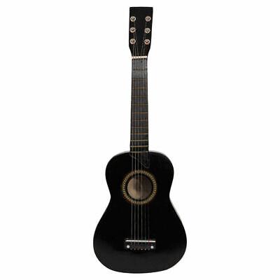 "23"" Acoustic Guitar, Toy Guitar 6 String Kids Plywood Mini Guitar Black"