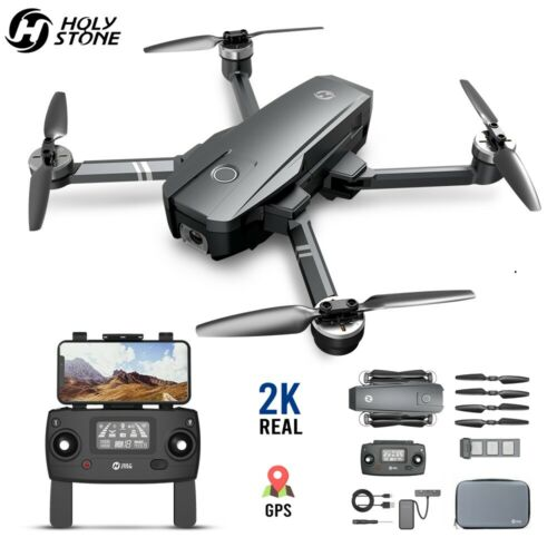 Holy Stone HS720 Foldable GPS Drone 2K Camera Brushless 5G FPV Quadcopter + Case