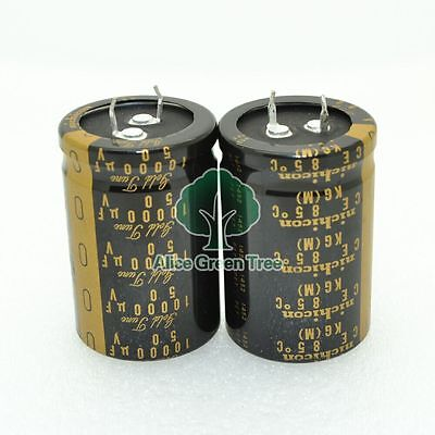2pcs Nichicon Kg 10000uf50v 30x45mm Audio Electrolytic Capacitor-5932