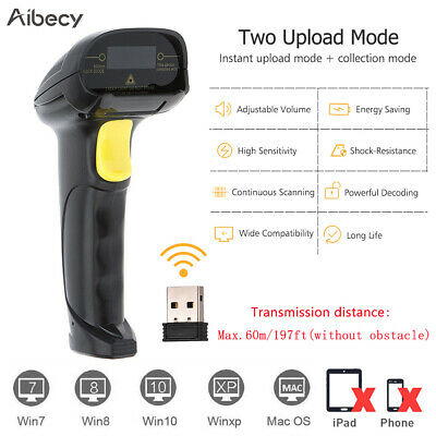 2.4g Handheld Wirelessusb Wired 1d Barcode Scanner Automatic Reader Pos S8d5