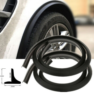 Car Wheel Fender Extension 2x 1.5m Moulding Flares Trim Strip Stick out Edge SUV for sale  Shipping to Canada