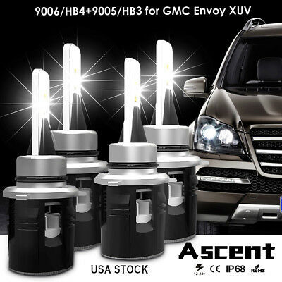 9005 HB3 9006 HB4 Conversion Led Headlight Kit Bulbs For GMC Envoy XUV 2005-2004