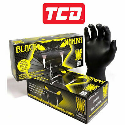 Black Mamba Super Strong Heavy Duty Disposable Mechanics Workshop Nitrile Gloves