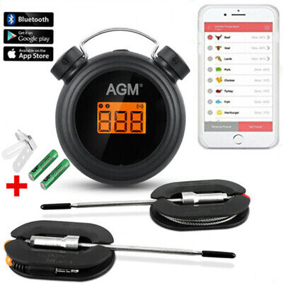 Digitale Bluetooth Grillthermometer Fleischthermometer Sonden Bratenthermometer (Fleisch, Digitale Thermometer)
