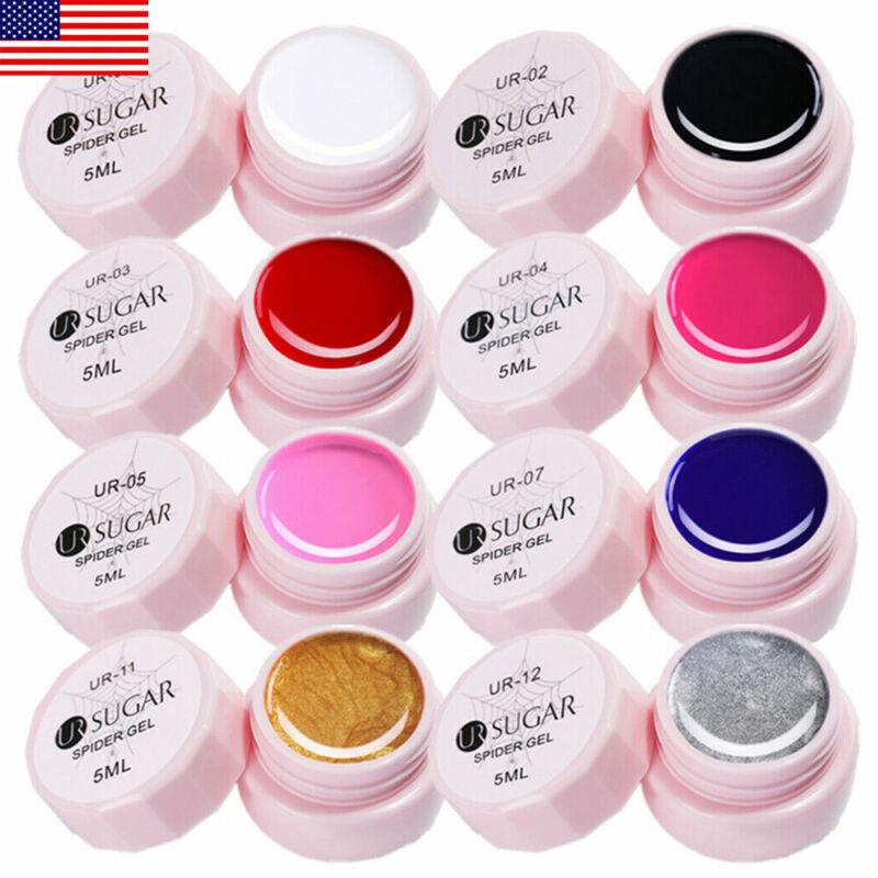 8 Boxes Nail Spider UV Gel Polish Set Nail Art Drawing Liner