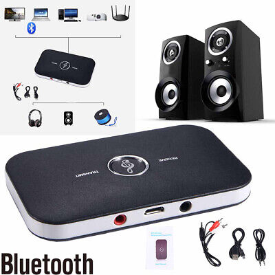 Bluetooth Receiver & Transmitter Wireless RCA to 3.5mm Aux Audio Adapter - NEW